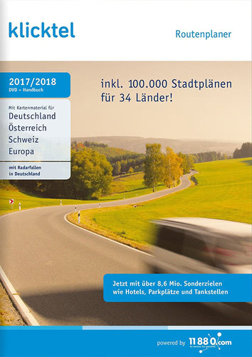 Verpackung von KlickTel Routenplaner 2017/2018 [PC-Software]