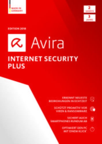 Avira Internet Security Plus 2018 2 Geräte / 36 Monate