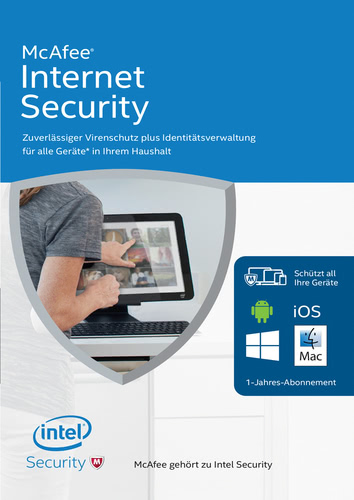 Verpackung von McAfee Internet Security 2016 Unlimited Devices [PC-Software]