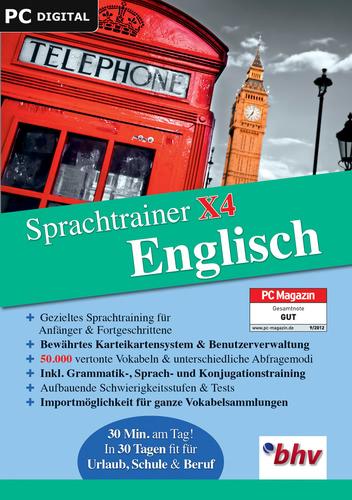 Verpackung von Sprachtrainer X4 Englisch [PC-Software]