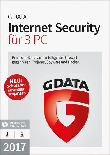 Verpackung von G Data Internet Security 2017 - 3 Benutzer - 12 Monate [PC-Software]