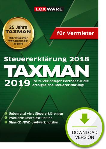 Verpackung von TAXMAN 2019 für Vermieter [PC-Software]