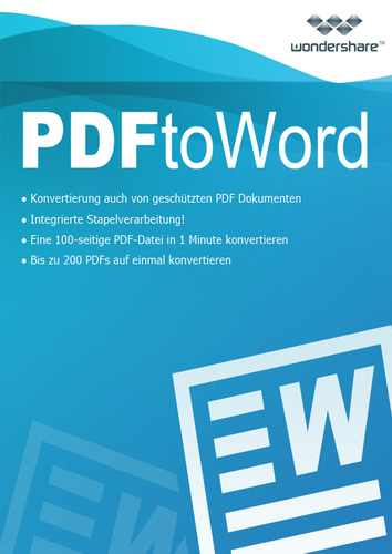 Verpackung von Wondershare PDF to Word Converter für Mac (Version 2017) [Mac-Software]