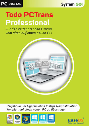 Verpackung von EaseUS System GO! Todo PCTrans Professional [PC-Software]