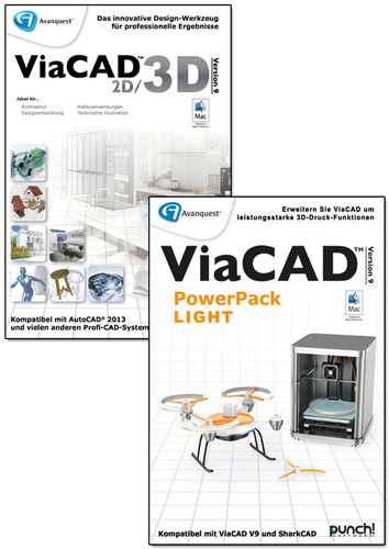 Verpackung von Avanquest ViaCAD 2D/3D 9 + PowerPack LIGHT (Mac) [Mac-Software]