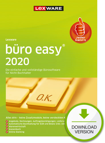 Verpackung von Lexware büro easy 2020 - Jahresversion (365-Tage) [PC-Software]