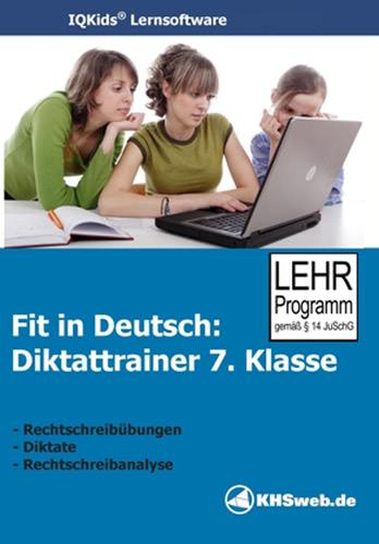 Verpackung von Fit in Deutsch - Diktattrainer - Klasse 7 [PC-Software]