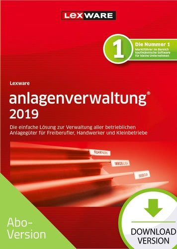 Lexware Anlagenverwaltung 2019 – Abo-Version (Download), PC