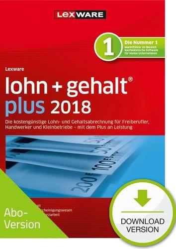Verpackung von Lexware lohn+gehalt plus 2018 Download - Abo Version [PC-Software]