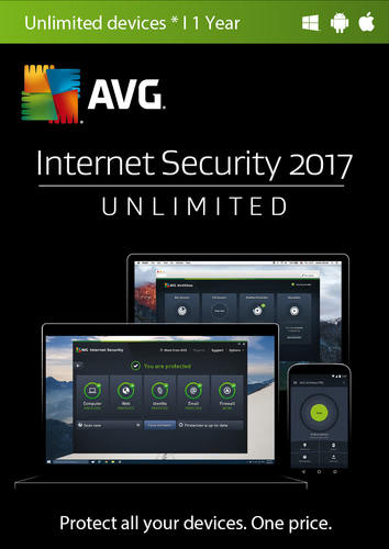 Packaging by AVG Internet Security 2017 Unlimited 1 PC / 12 Months [MULTIPLATFORM]