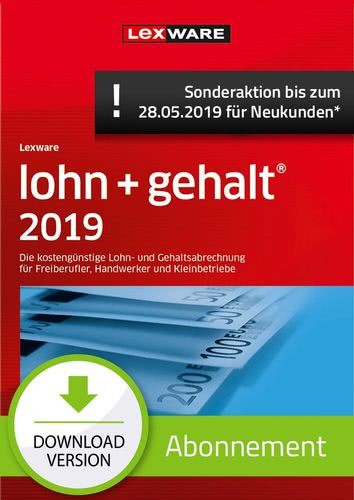 lohn+gehalt 2019 Abonnement (Aktionspreis) (Download), PC