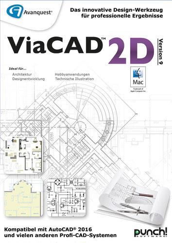 Verpackung von Avanquest ViaCAD 2D V9 (Mac) [Mac-Software]