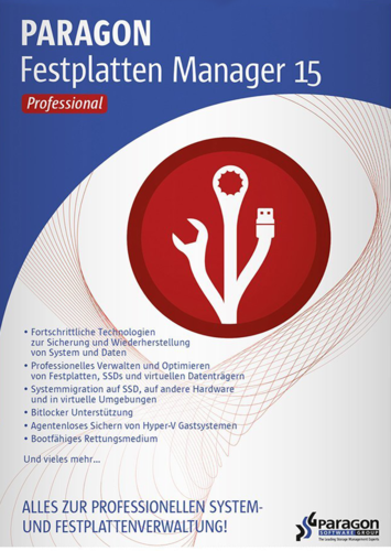 Verpackung von Paragon Festplatten Manager 15 Professional [PC-Software]