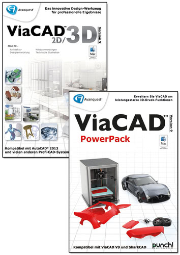 ViaCAD 2D/3D 9 + PowerPack (Mac)
