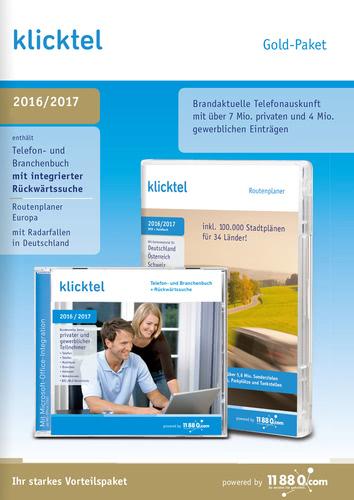 Verpackung von KlickTel klickTel Gold-Paket 2016/2017 [PC-Software]