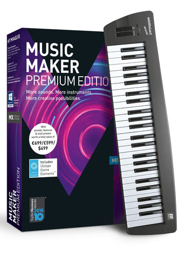 Verpackung von Magix Music Maker Control Edition (2018) [PC-Software]