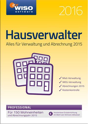 Verpackung von WISO Hausverwalter 2016 Professional [PC-Software]