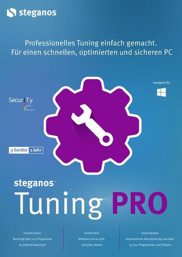 Verpackung von Steganos Tuning Pro - 3 PCs / 1 Jahr [PC-Software]