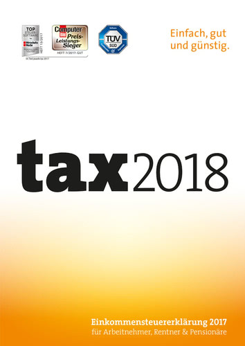 Verpackung von tax 2018 [PC-Software]
