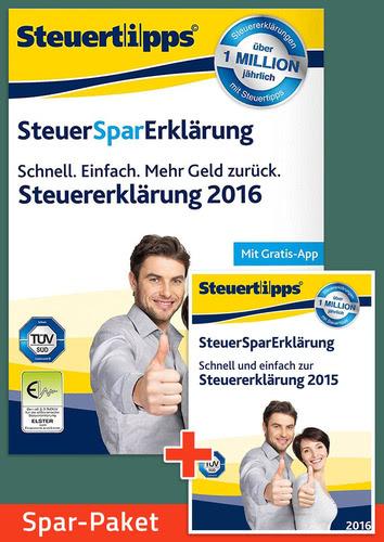 Verpackung von Sparpaket: SteuerSparErklärung 2016 + 2017 [PC-Software]