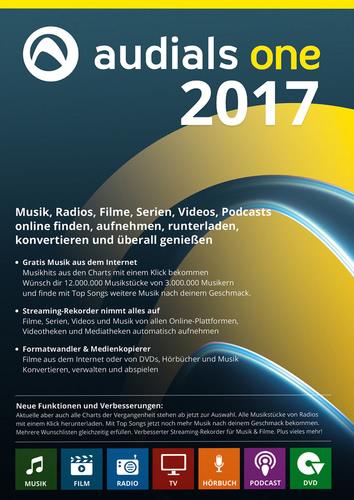 Verpackung von Audials One 2017 [PC-Software]
