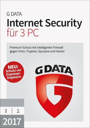 Verpackung von G Data Internet Security 2017 - 3 PC - 12 Monate [PC-Software]