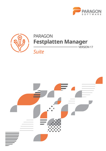 Paragon Festplatten Manager 17 Suite (Download), PC