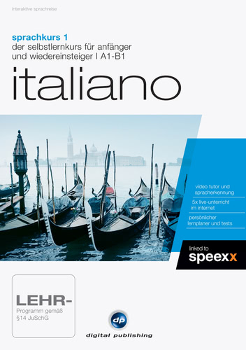 Verpackung von Sprachkurs 1 Italiano [PC-Software]