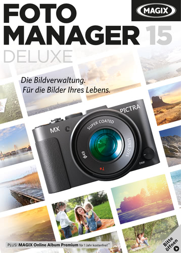 Verpackung von MAGIX Foto Manager 15 deluxe [PC-Software]