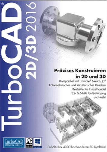 Verpackung von TurboCAD 2D/3D 2016 [PC-Software]