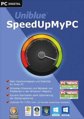 Verpackung von Uniblue SpeedUpMyPC 2016 [PC-Software]