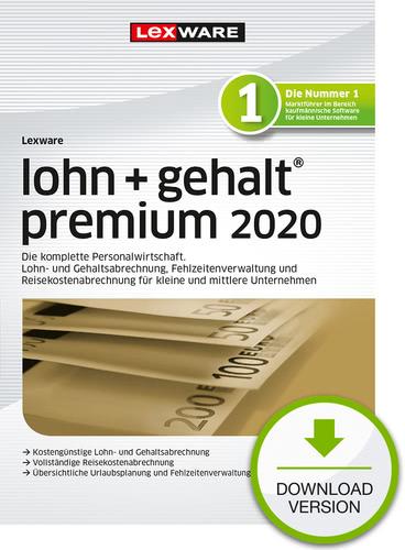 Verpackung von Lexware lohn + gehalt 2020 premium - Jahresversion (365-Tage) [PC-Software]