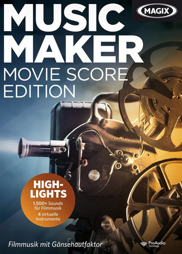 Verpackung von Magix Music Maker Movie Score Edition [PC-Software]