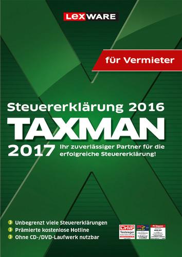 Verpackung von TAXMAN 2017 für Vermieter (für Steuerjahr 2016) [PC-Software]