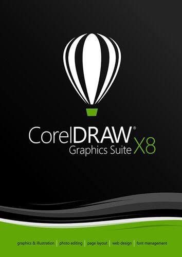 Verpackung von CorelDRAW Graphics Suite X8 [PC-Software]