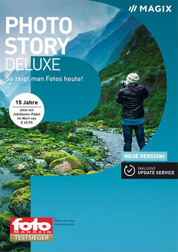 Verpackung von Magix Photostory Deluxe (2018) [PC-Software]