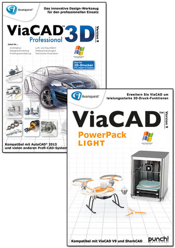 Avanquest ViaCAD 3D 9 Professional + PowerPack LIGHT (Windows)