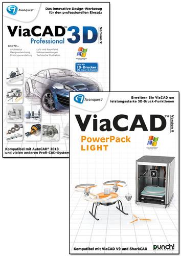 Verpackung von Avanquest ViaCAD 3D 9 Professional + PowerPack LIGHT (Windows) [PC-Software]