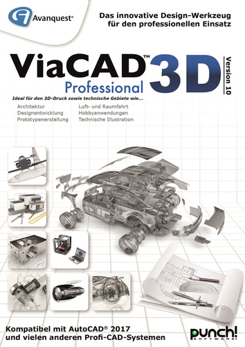 Verpackung von Avanquest ViaCAD 3D Professional Version 10 (Mac) [Mac-Software]