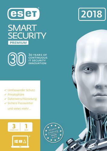 Verpackung von ESET Smart Security Premium 2018 Edition - 3 Nutzer 12 Monate [PC-Software]