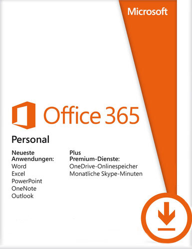 Verpackung von Office 365 Personal - 1 User / 12 Monate [PC-Software]