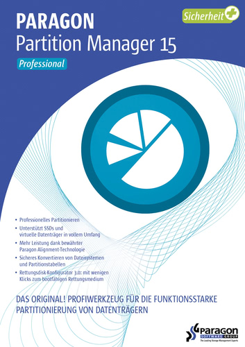 Verpackung von Paragon Partition Manager 15 Professional [PC-Software]