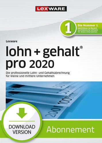 Lexware lohn + gehalt 2020 pro – Abo-Version (Download), PC