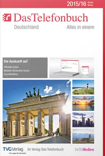Verpackung von Das Telefonbuch Deutschland Herbst/Winter 2015/16 [PC-Software]