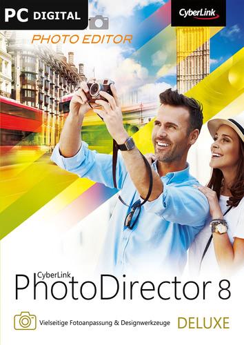 Verpackung von CyberLink PhotoDirector 8 Deluxe [PC-Software]