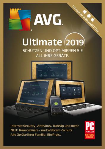 Verpackung von AVG Ultimate 2019 - 1 Jahr / unbegrenzte Geräte [PC-Software]