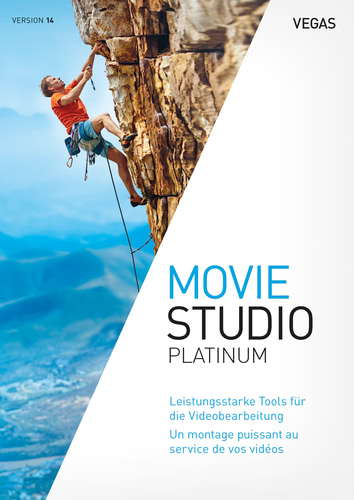 Verpackung von VEGAS Movie Studio 14 Platinum [PC-Software]