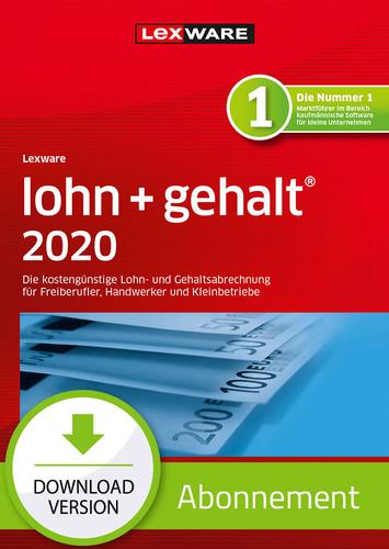 Lexware lohn + gehalt 2020 – Abo-Version (Download), PC