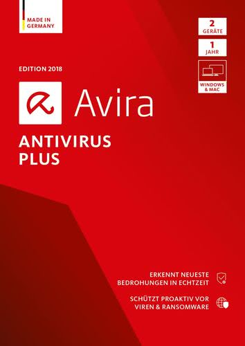 Avira Antivirus Plus 2018 2 Geräte / 12 Monate