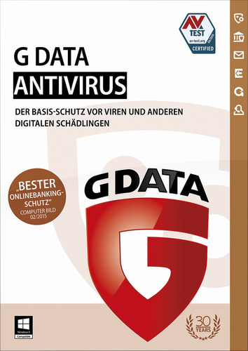 Verpackung von G Data Antivirus - 1 User - 12 Monate [PC-Software]